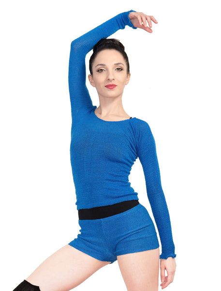 Off Shoulder Ballet Top & High Waist Dance Shorts @KDdanceNewYork #MadeInUSA - 12