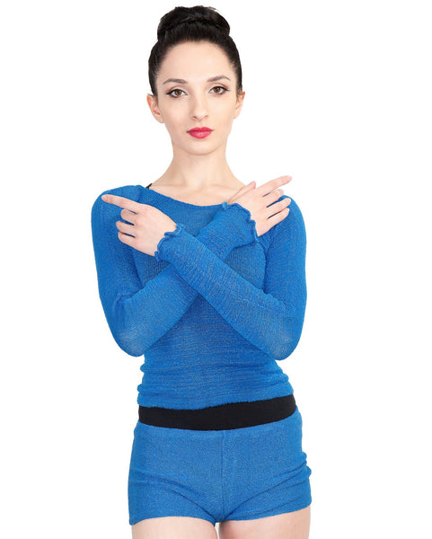 Off Shoulder Ballet Top & High Waist Dance Shorts @KDdanceNewYork #MadeInUSA - 6
