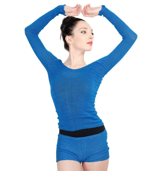 Off Shoulder Ballet Top & High Waist Dance Shorts @KDdanceNewYork #MadeInUSA - 4