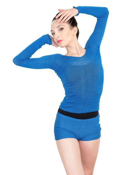 Off Shoulder Ballet Top & High Waist Dance Shorts @KDdanceNewYork #MadeInUSA - 11