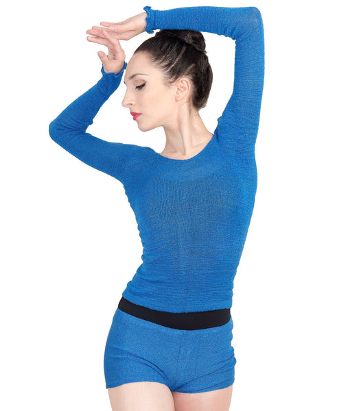 Off Shoulder Ballet Top & High Waist Dance Shorts @KDdanceNewYork #MadeInUSA - 9