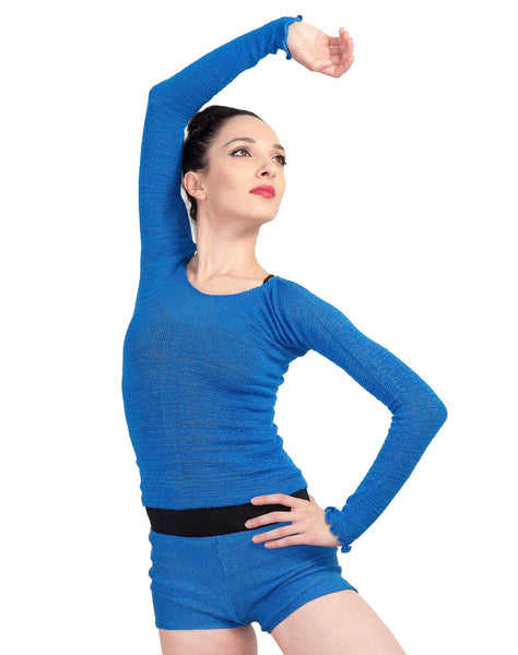 Off Shoulder Ballet Top & High Waist Dance Shorts @KDdanceNewYork #MadeInUSA - 7