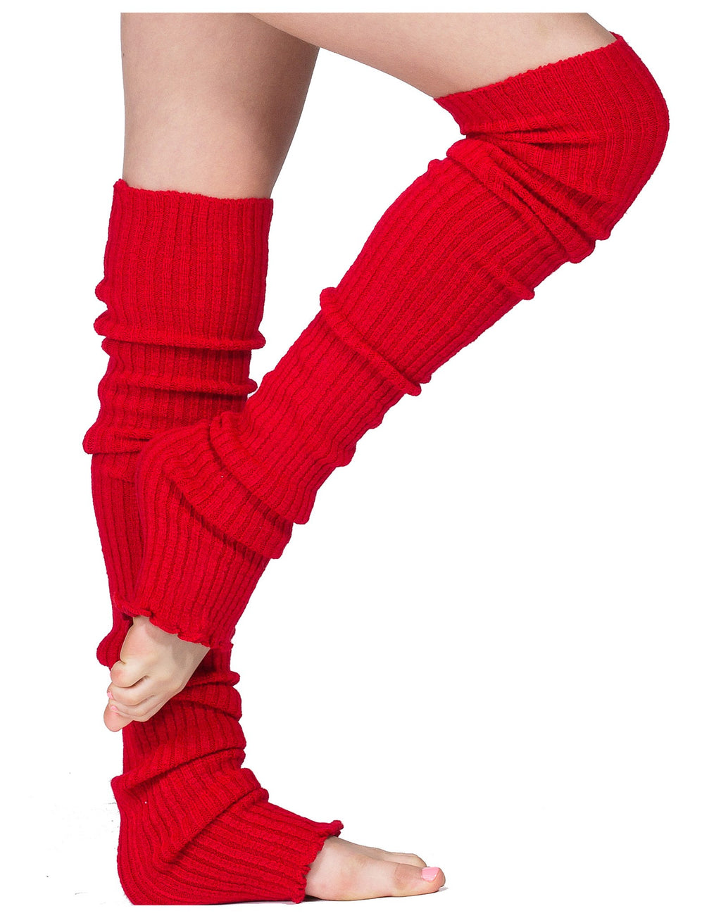 New York Black / 28 Inch Leg Warmers Leg Warmers Thigh High Stretch Knit Ribbed 28 Inch Leg Warmers High Quality KD dance Made In USA @KDdanceNewYork #MadeInUSA - 1