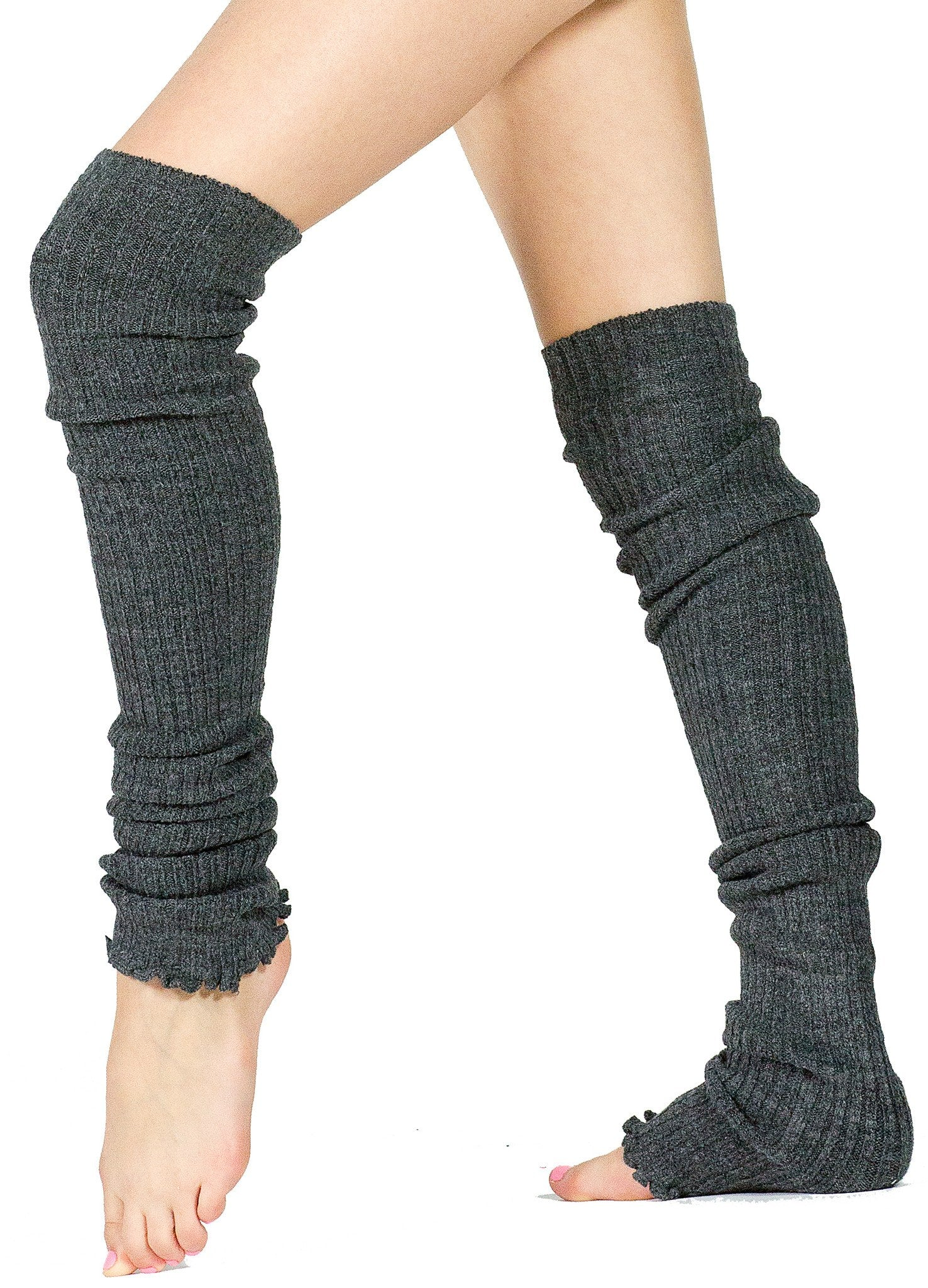 Leg Warmers Thigh High Stretch Knit Ribbed 28 Inch Leg Warmers High Quality KD dance Made In USA @KDdanceNewYork #MadeInUSA - 2