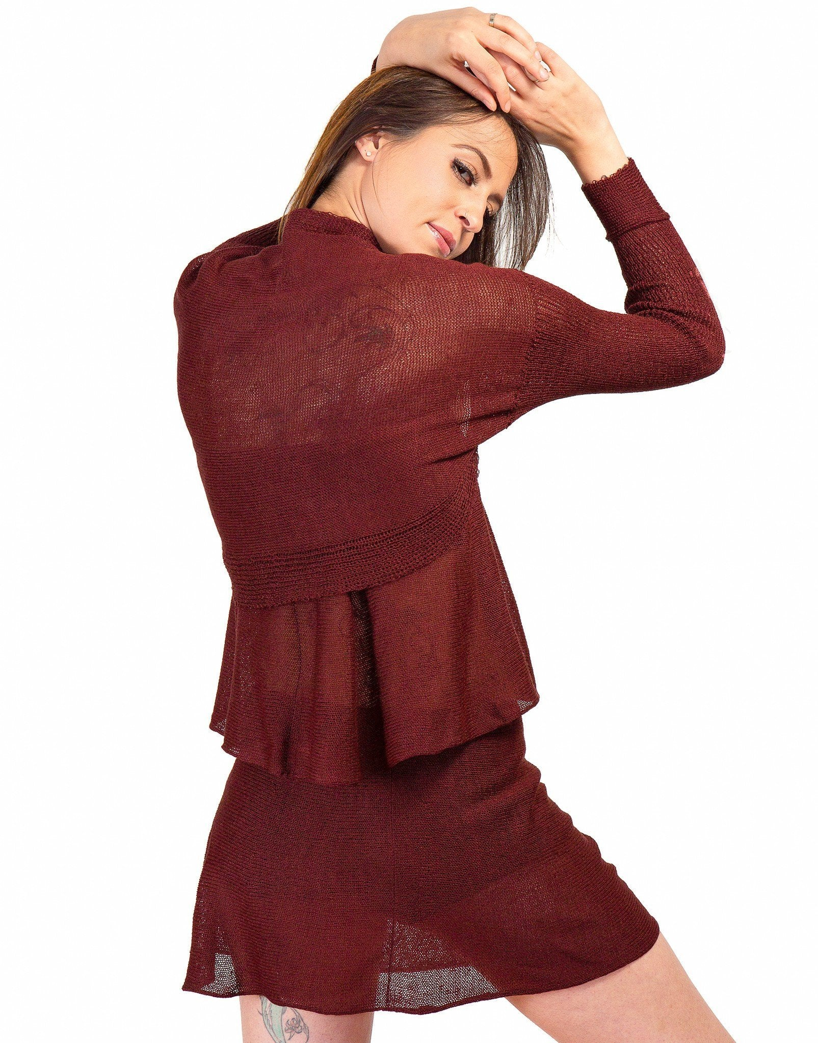 New York Black - KrinkleSpun / Small Drape Shrug Knit KrinkleSpun by KD dance New York Made In USA @KDdanceNewYork #MadeInUSA - 1