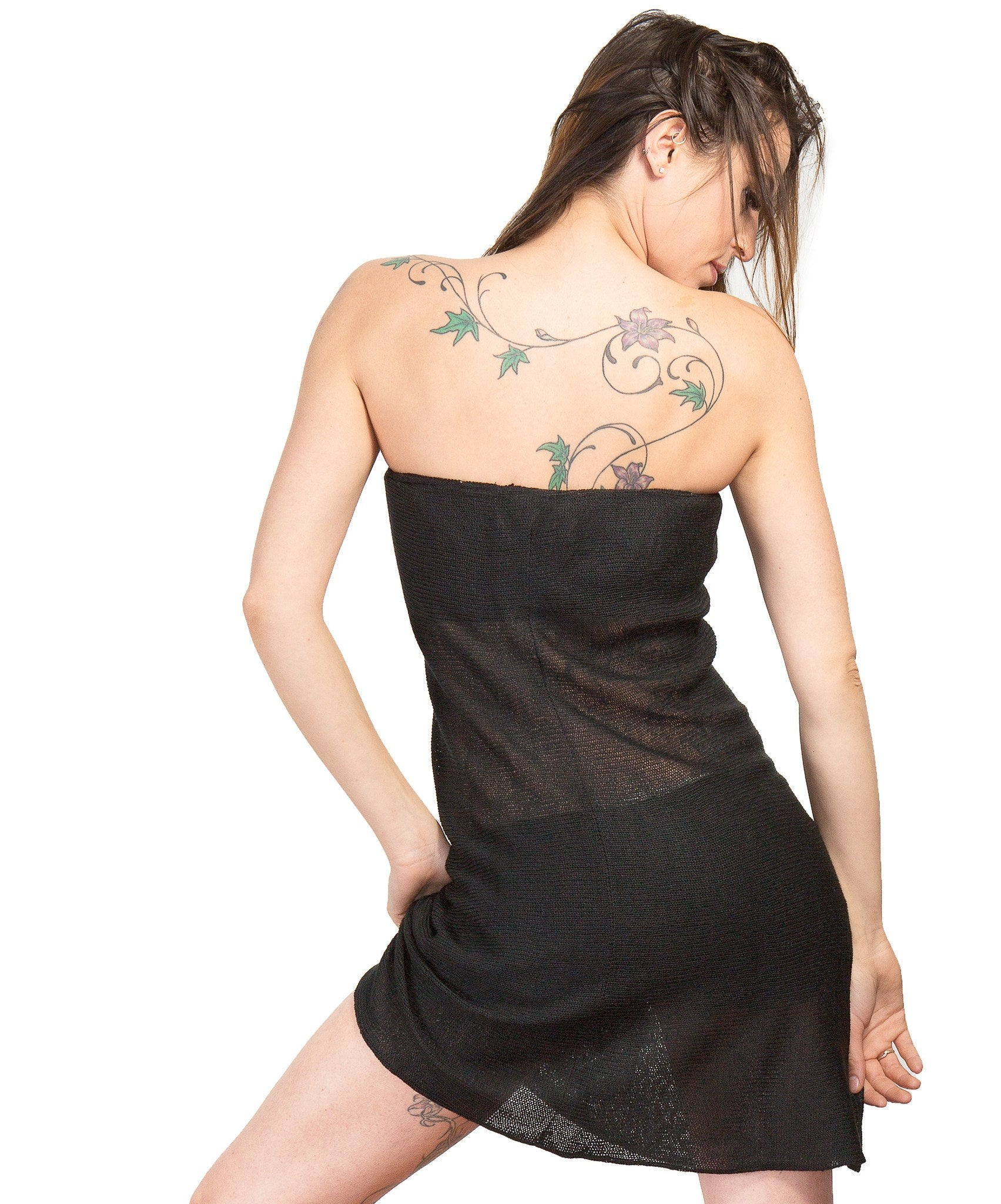 Sexy Sheer Bare Shoulder Mesh Dress by KD dance New York Made In USA @KDdanceNewYork #MadeInUSA - 6