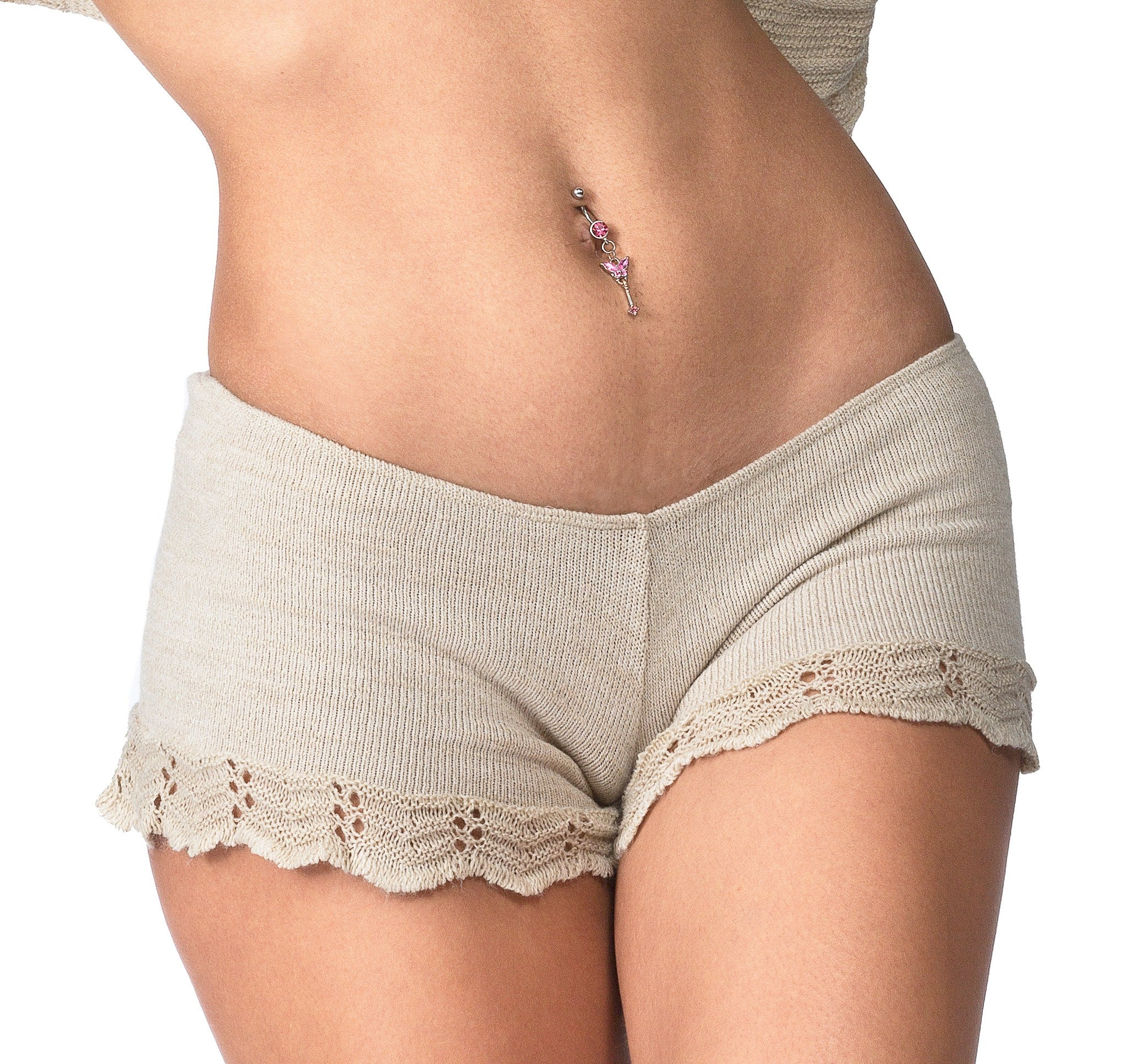 Cocoon Sweater & Lace Yoga Shorts @KDdanceNewYork #MadeInUSA - 2