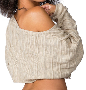 Cocoon Sweater & Lace Yoga Shorts @KDdanceNewYork #MadeInUSA - 4