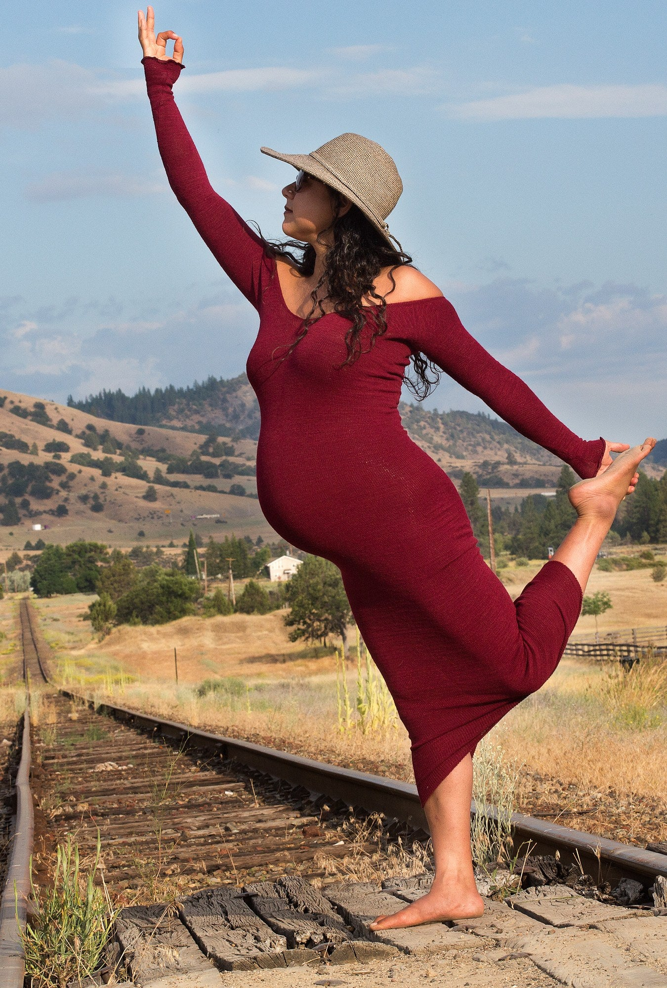Yoga Mom Du Jour Calf Length Maternity Body Con Pregnancy Sweater Dress Luxurious & Comfortable Made In USA @KDdanceNewYork #MadeInUSA - 4