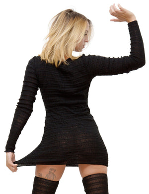 Black Sweater Dress / Tunic / Mini Dress @KDdanceNewYork #MadeInUSA - 7