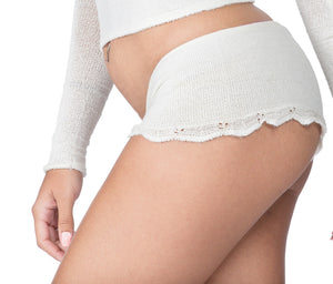 Cheeky Short Shorts Lace Trimmed & Stretch Knit KD dance Boat Neck Off Shoulder Top Made In USA @KDdanceNewYork #MadeInUSA - 4