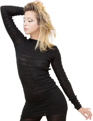 Sexy Soft Sweater Shadow Stripe Skinny Top Yoga To Loungewear by KD dance New York Warm Cozy & Durable Made In USA @KDdanceNewYork #MadeInUSA - 4