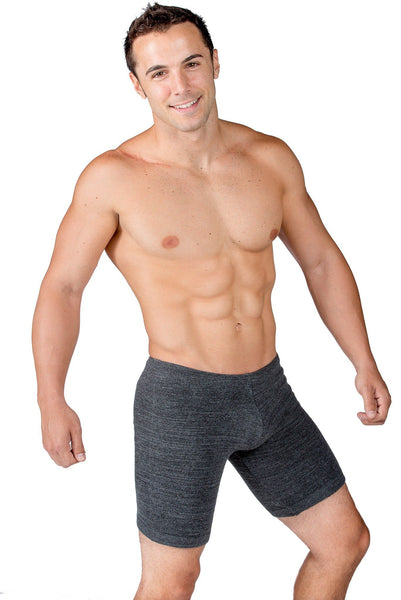 Male Dancewear Shorts / Men's Leg Warmers / Gray @KDdanceNewYork #MadeInUSA - 3