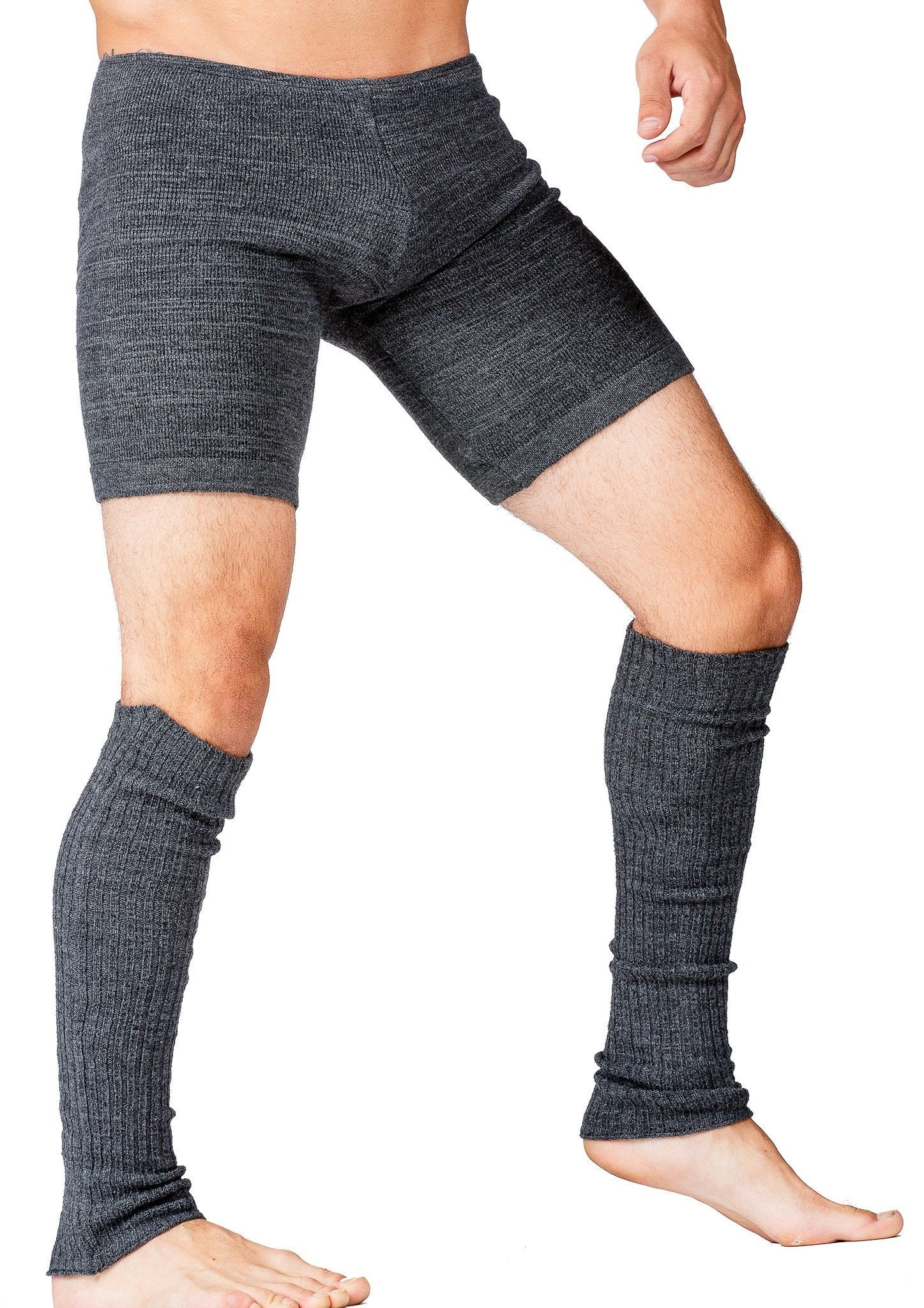 Leg Warmers / Dark Gray / Men's Dancewear @KDdanceNewYork #MadeInUSA - 4