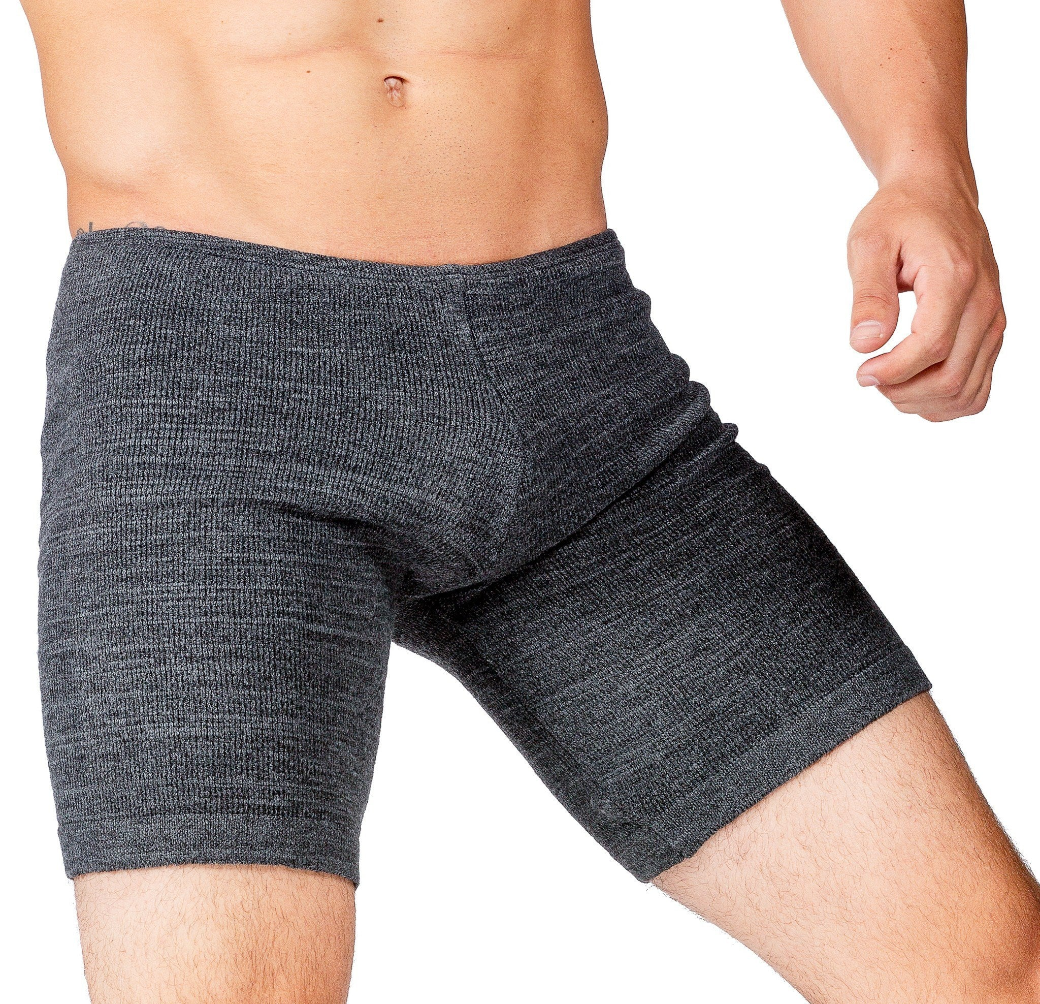 Small / Charcoal Male Dancewear Shorts / Men's Leg Warmers / Gray @KDdanceNewYork #MadeInUSA - 8