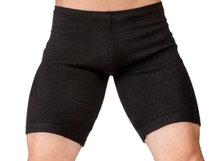 Extra Small / New York Black Shorts:  Men's Dance & Yoga Low Rise Shorts Stretch Knit Yoga KD dance NYC Dancewear Made In USA @KDdanceNewYork #MadeInUSA - 1