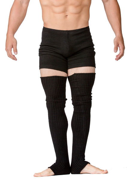 Men's Leg Warmers 30 Inch Thigh High Stretch Knit Ribbed High Quality KD dance @KDdanceNewYork #MadeInUSA - 1