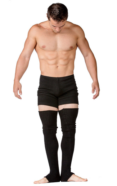 Men's Shorts: Yoga & Dance Low Rise Shorts Stretch Knit by KD dance NYC Dancewear Made In USA @KDdanceNewYork #MadeInUSA - 4