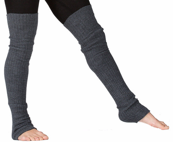 Charcoal / 30 Inch Leg Warmer Men's Leg Warmers / Men's Dancewear / Thigh High Leg Warmers @KDdanceNewYork #MadeInUSA - 4
