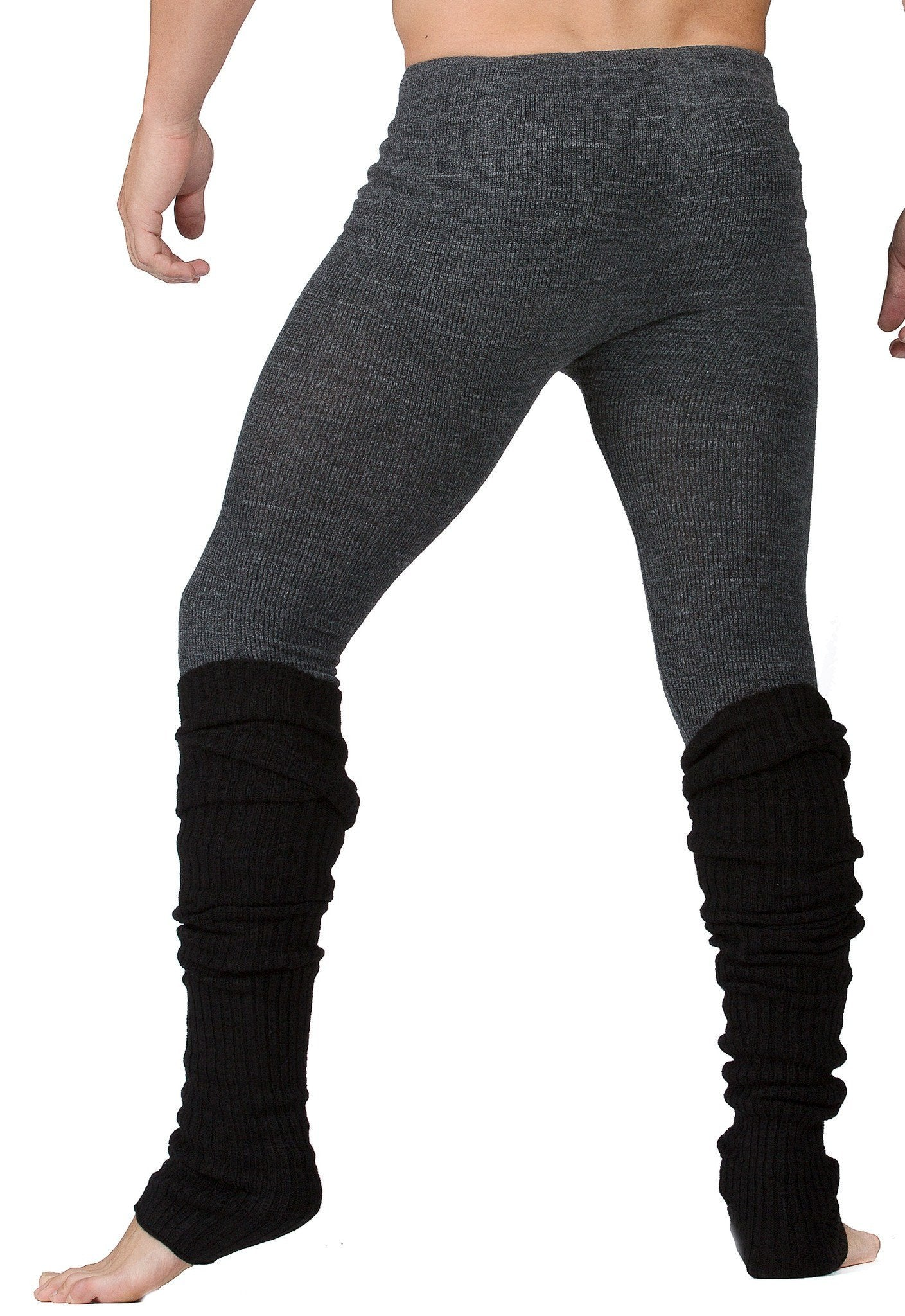 Leg Warmers / Dark Gray / Men's Dancewear @KDdanceNewYork #MadeInUSA - 3