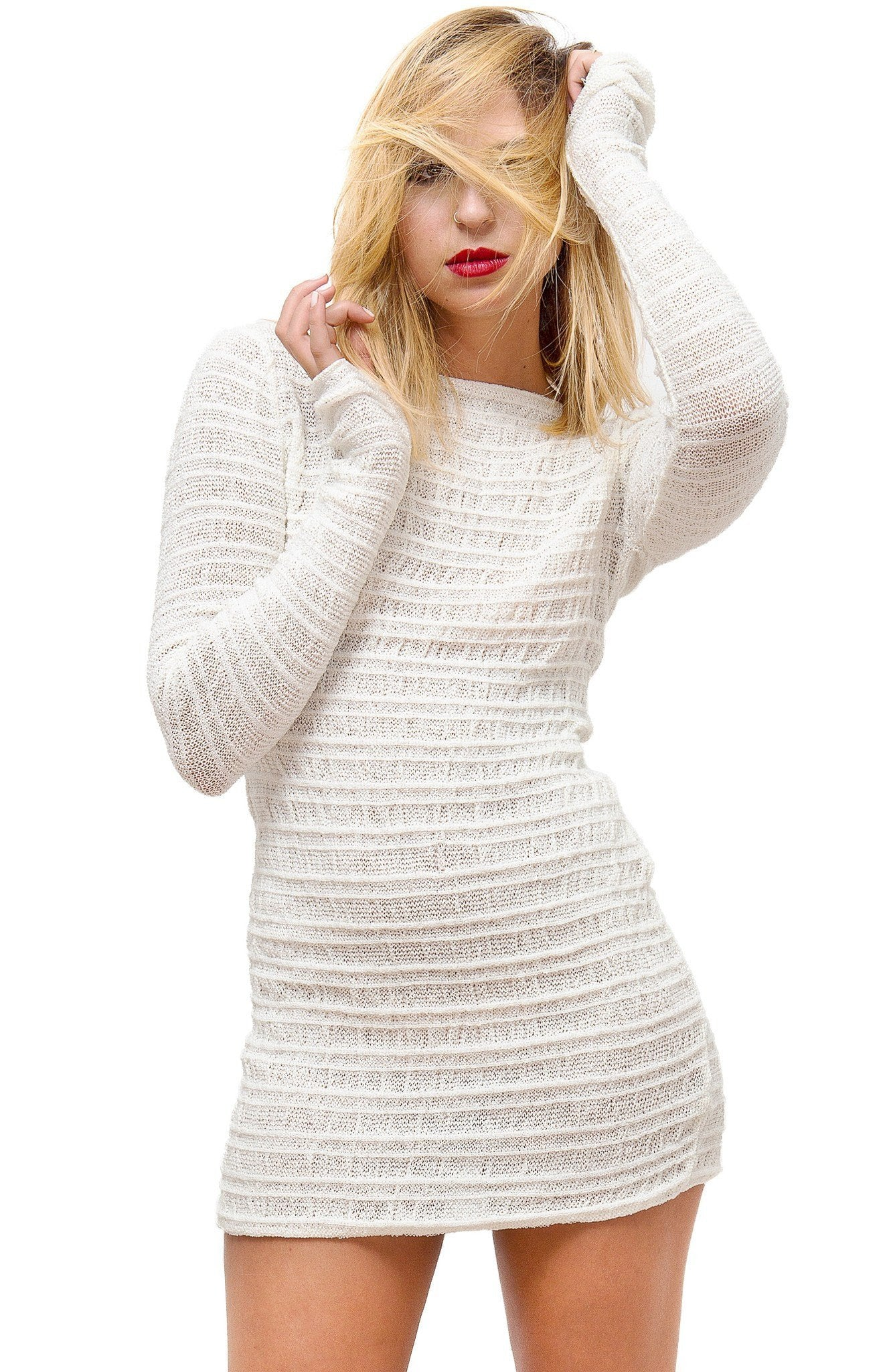 Black Sweater Dress / Tunic / Mini Dress @KDdanceNewYork #MadeInUSA - 8
