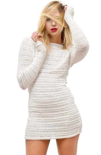 Cozy Loungewear Sexy Sweater Mini Dress @KDdanceNewYork #MadeInUSA - 8