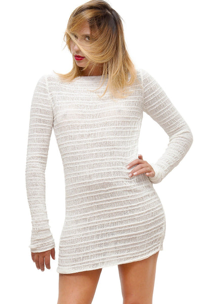 Cozy Loungewear Sexy Sweater Mini Dress @KDdanceNewYork #MadeInUSA - 3