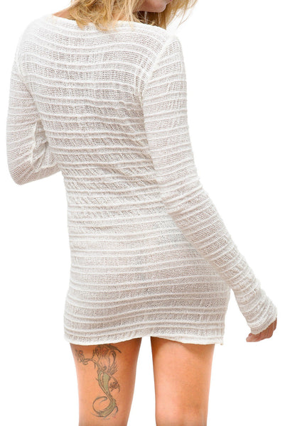 New York Black / Small Cozy Loungewear Sexy Sweater Mini Dress @KDdanceNewYork #MadeInUSA - 1
