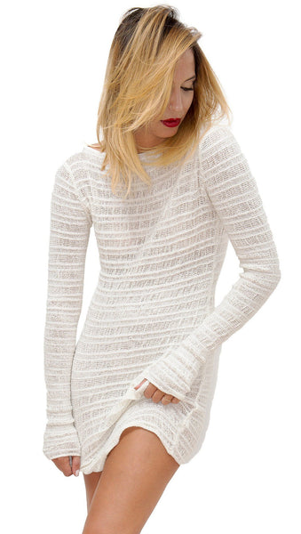 Cozy Loungewear Sexy Sweater Mini Dress @KDdanceNewYork #MadeInUSA - 6