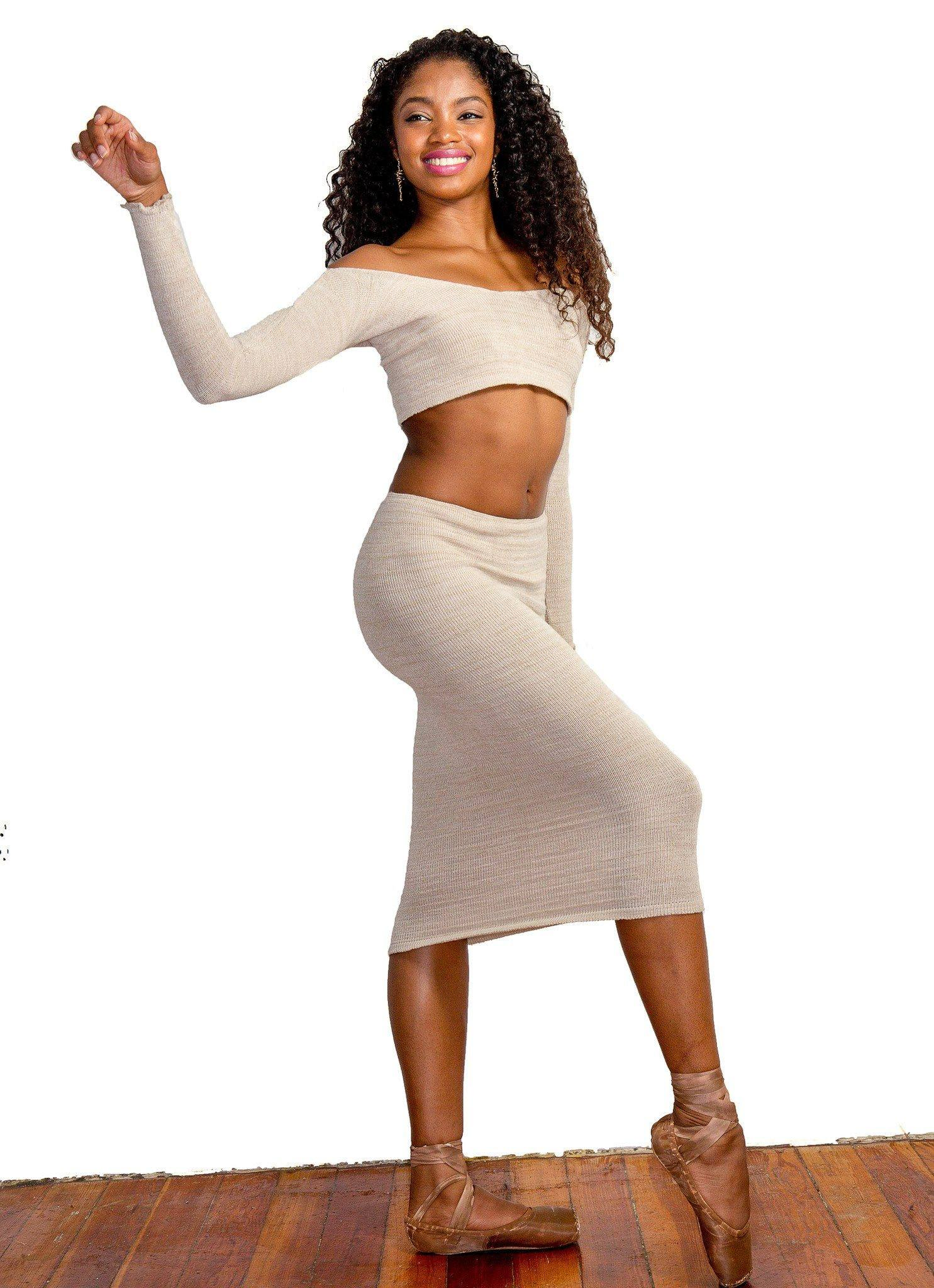 Sexy Dancewear Set / Off The Shoulder Crop Ballet Top / Tube Dress / Cozy / Dance / Loungewear @KDdanceNewYork #MadeInUSA - 4