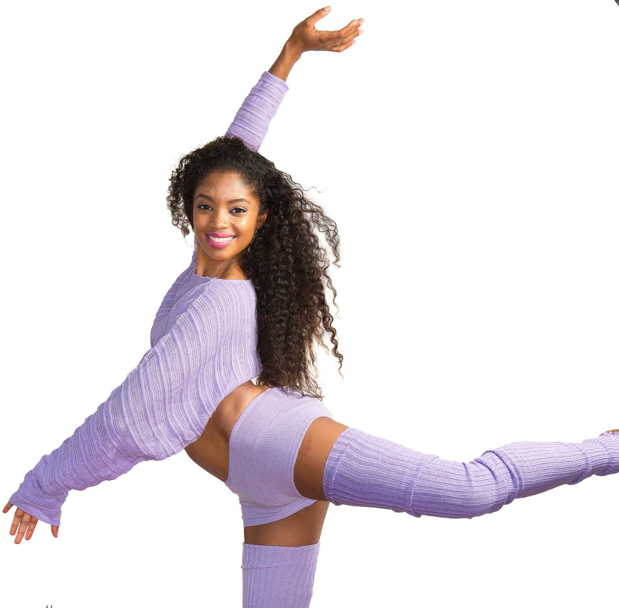 Ballet Yoga Dancewear 3 Pc Set Leg Warmers Sweater Top & Boy Shorts @KDdanceNewYork #MadeInUSA - 5