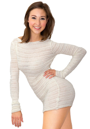 Soft Sweater Shadow Stripe Skinny Top by KD dance New York Warm Cozy & Durable Made In USA @KDdanceNewYork #MadeInUSA - 4