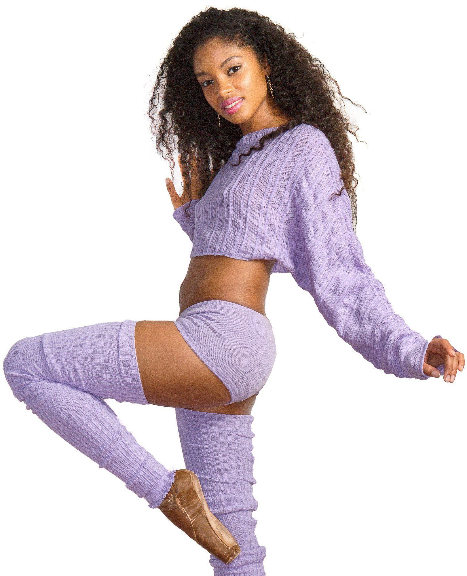 Ballet Yoga Dancewear 3 Pc Set Leg Warmers Sweater Top & Boy Shorts @KDdanceNewYork #MadeInUSA - 9