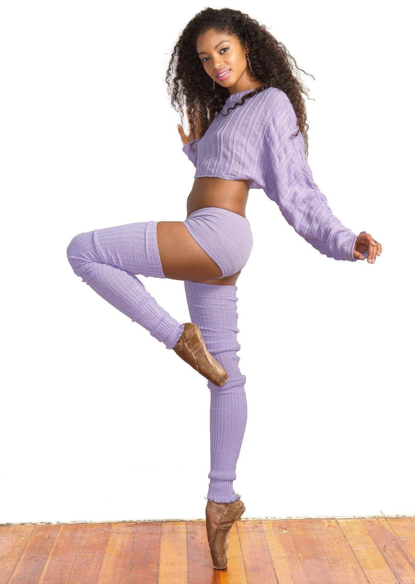String Tie Wrap Top / Knit Low Rise Tights / Dancewear / Ballet / Dance / Loungewear / Made In USA