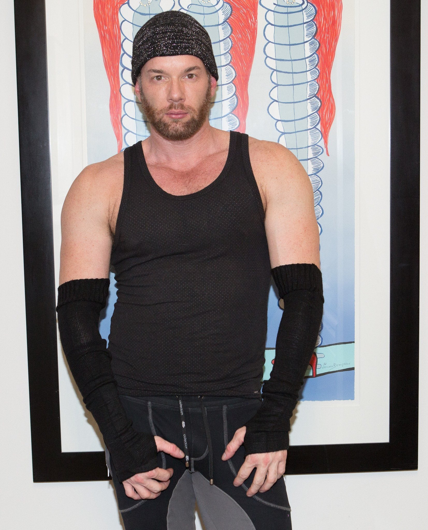 Men's Arm Warmers / Stretch Knit / Thumb Hole @KDdanceNewYork #MadeInUSA - 4
