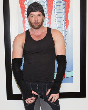 Arm Warmers For Men by KD dance Fingerless Stretch Knit with Thumb Hole High Quality Made In USA @KDdanceNewYork #MadeInUSA - 4