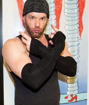Men's Arm Warmers / Stretch Knit / Thumb Hole @KDdanceNewYork #MadeInUSA - 2