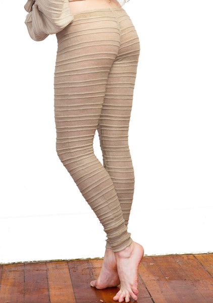 Yoga & Dance Low Rise Hipster Tights & Mesh Shadow Stripe Sweater Top Set by KD dance New York @KDdanceNewYork #MadeInUSA - 3
