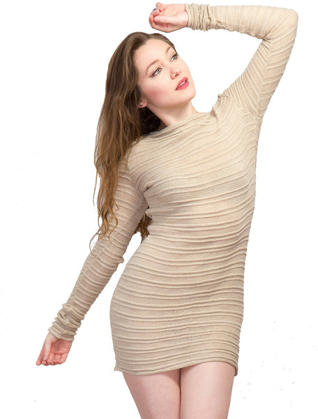 Yoga & Dance Low Rise Hipster Tights & Mesh Shadow Stripe Sweater Top Set by KD dance New York @KDdanceNewYork #MadeInUSA - 2