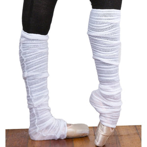 Matching 30 Thigh High Leg & Arm Warmers Stretch Knit Shadow Stripe KD dance Made In USA
