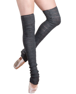30 Inch Thigh High Leg Warmers Stretch Knit Shadow Stripe KD dance Made In USA