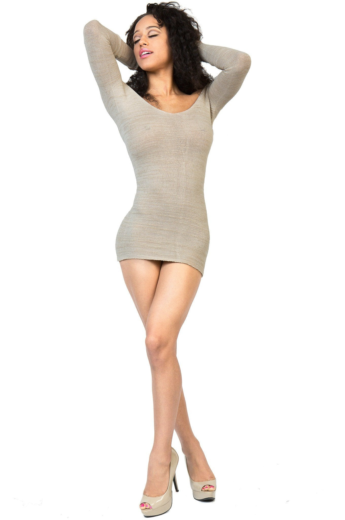 New York Black / Small Sexy Sweater Mini Dress / Off The Shoulder @KDdanceNewYork #MadeInUSA - 2
