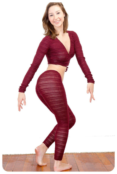 Dancewear Set / Wrap Top / Hipster Tights / RacerBack Tank Top @KDdanceNewYork #MadeInUSA - 1