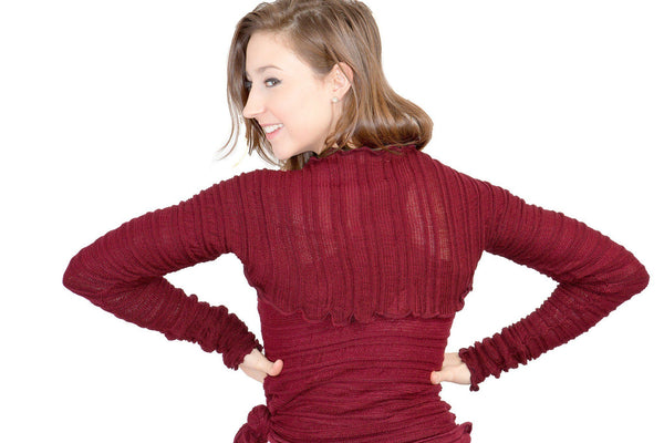 Stretch Knit Shrug / Fashionable / Sleeves / Dance / Yoga / Ballet @KDdanceNewYork #MadeInUSA - 12
