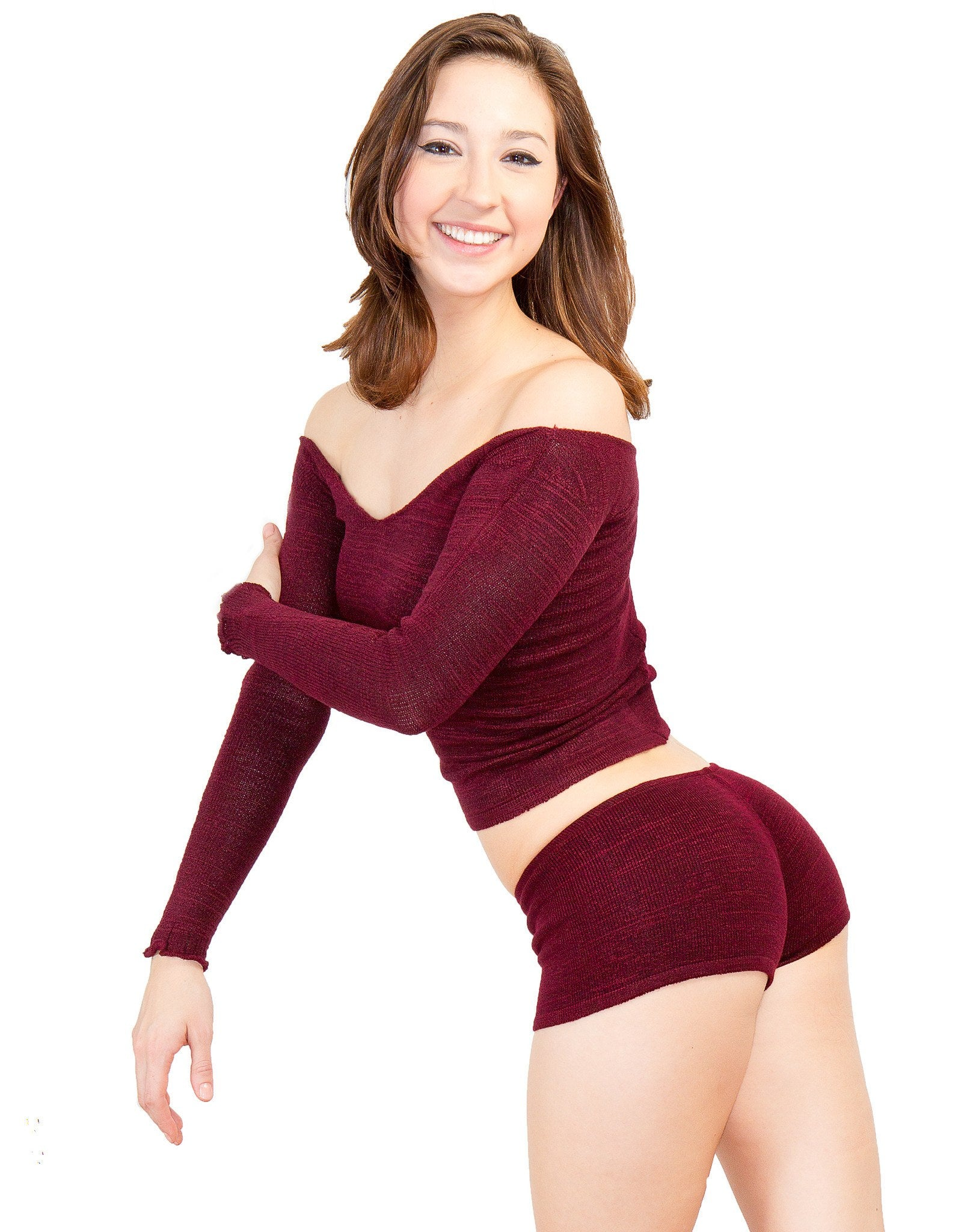 Sexy Sweater Off The Shoulder Top KDdanceNewYork.com Made In USA Dancewear