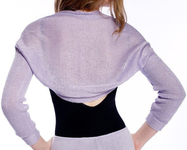 Lavender - KrinkleSpun / Medium Drape Knit Shrug / Sleeves / Sweater / Dancewear / Wedding Shrug @KDdanceNewYork #MadeInUSA - 1