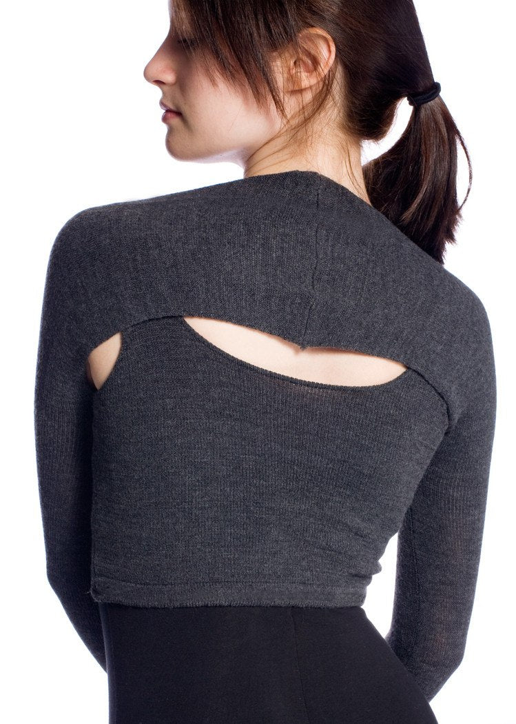 New York Black / Large Stretch Knit Ballet Shrug Designed by Dancers For Dancers Sharp Lines Fashionable Unique Made In USA @KDdanceNewYork #MadeInUSA - 1