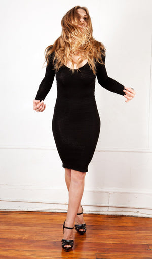 Knee High Sweater Dress KD dance New York Office Wear To Cocktail Party Dress Made In USA @KDdanceNewYork #MadeInUSA - 8
