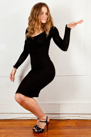 Knee High Sweater Dress KD dance New York Office Wear To Cocktail Party Dress Made In USA @KDdanceNewYork #MadeInUSA - 3