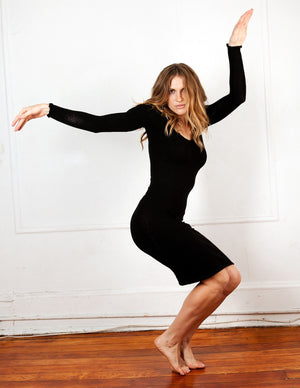 Knee High Sweater Dress KD dance New York Office Wear To Cocktail Party Dress Made In USA @KDdanceNewYork #MadeInUSA - 6